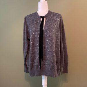 Michael Kors NWOT V neck w/ velvet ties sweater 2X